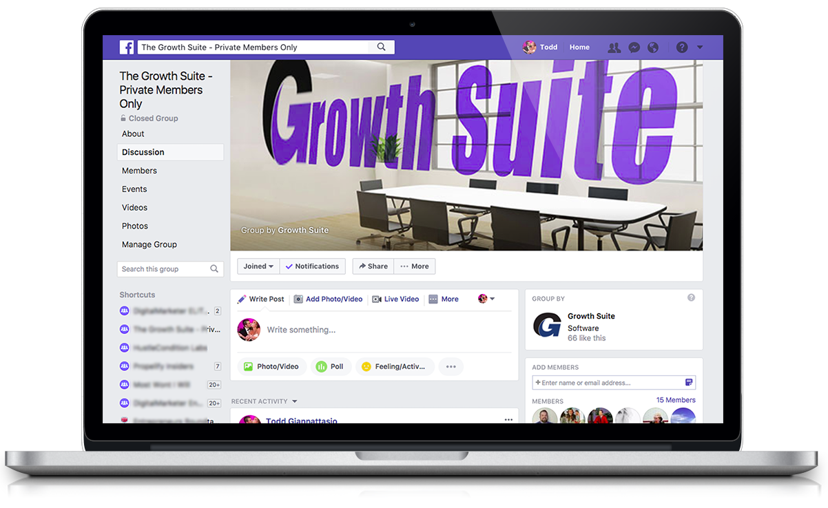 Growth Suite FB Group Macbook